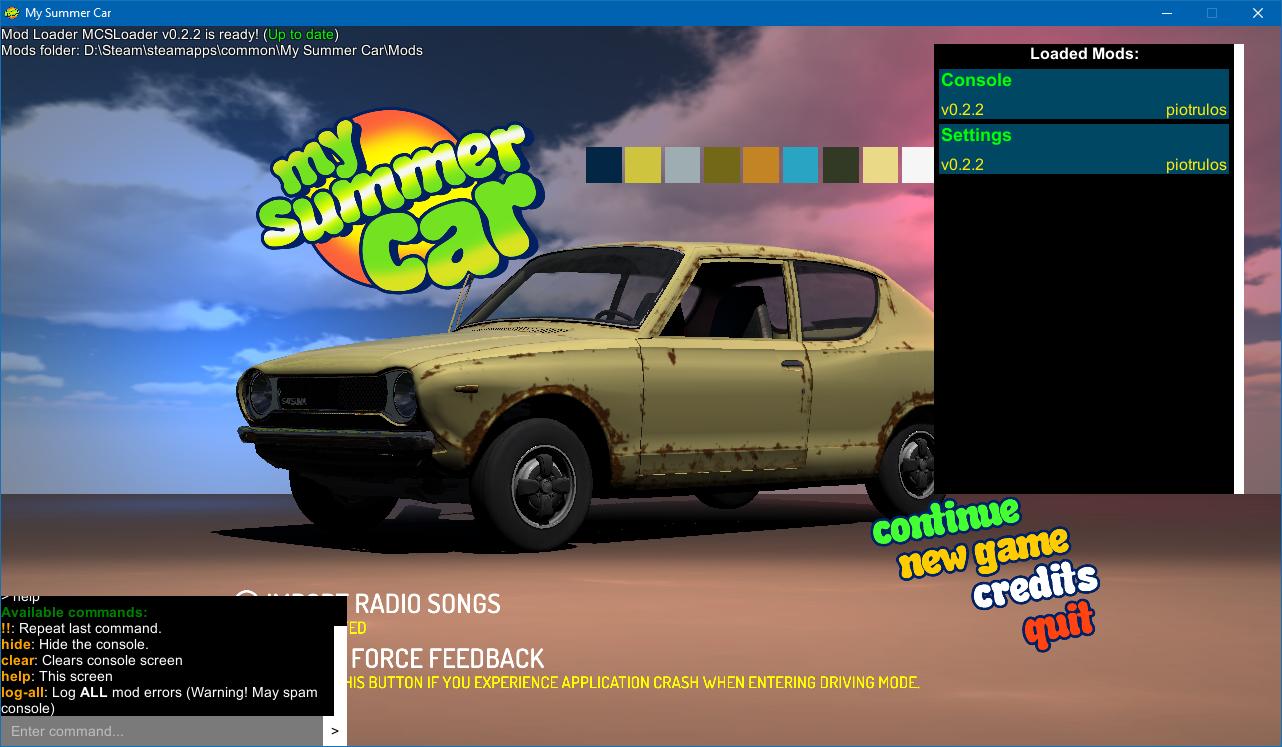 MSC Mod Loader 0.4.7 – My Summer Car моды, сохранения, скины ... de219da370b